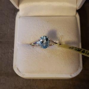 Jewelry - NWT 1.5 carat Sky Blue Topaz ring size 7 silver